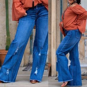 PLUS •L&B Oklahoma Wide Leg Jean•